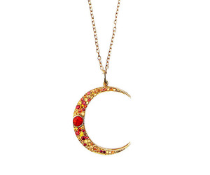 crescent, necklace, and red image