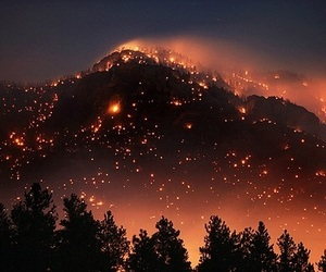 fire, nature, and light image