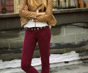 maroon, fashion, and outfit image