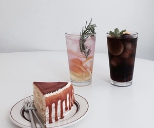 cake, drink, and food image
