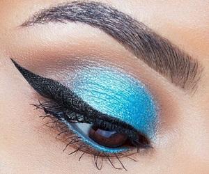 blue, eyes, and eyeshadow image