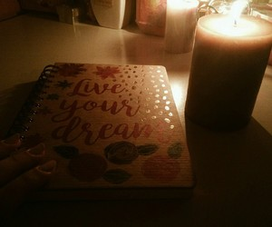 candles, fall, and quotes image