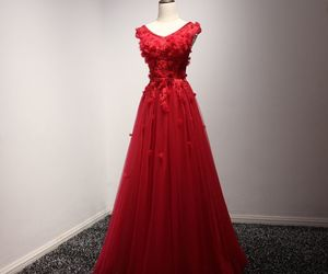 evening dress, long dress, and red dress image