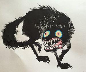 art, dog, and drawing image