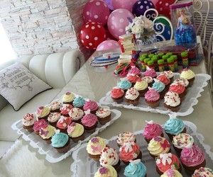 birthday, cupcakes, and party image