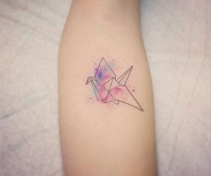 origami, rose, and tatouage image