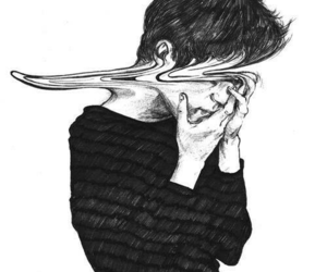 black&white, cuts, and depression image