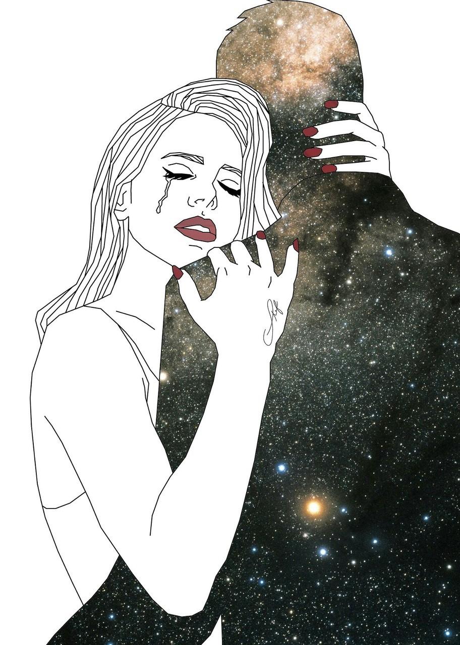 love, couple, and sad image