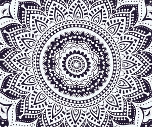 mandala, art, and black image
