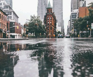 city, photography, and rain image