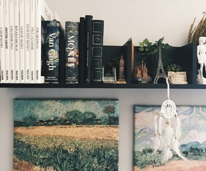 art, books, and canvas image