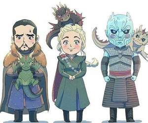 dragon, game of thrones, and jon snow image