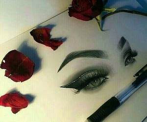 aesthetic, sketch, and beauty image