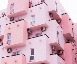 pink and buildings image