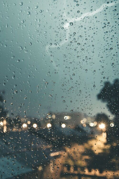 rain, window, and city image