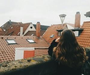 dreamer, long hair, and rainy day image