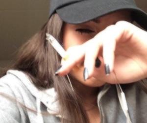 girl, smoke, and icon image