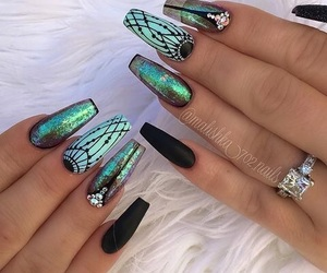 beauty, green, and nails image