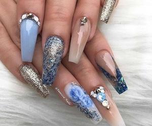 beauty, glitter, and blue image