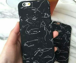 black, iphone, and phone case image