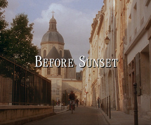 before sunset, film, and movie image