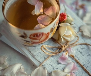 beautiful, flowers, and Letter image