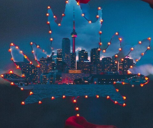 light, city, and creative image
