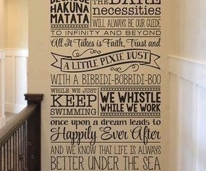 decorating, disney, and quotes image