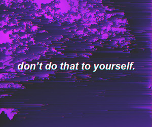 aesthetic, purple, and quotes image