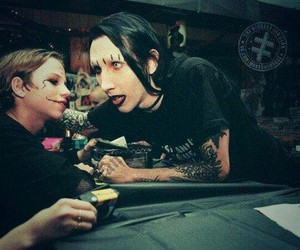Marilyn Manson, 90s, and rock image