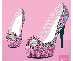 heels, phrases, and pink image