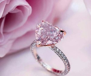 pink, ring, and rose image
