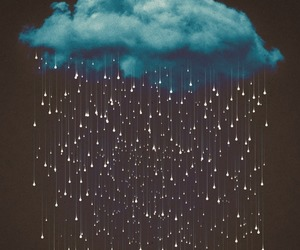 clouds, rain, and wallpaper image