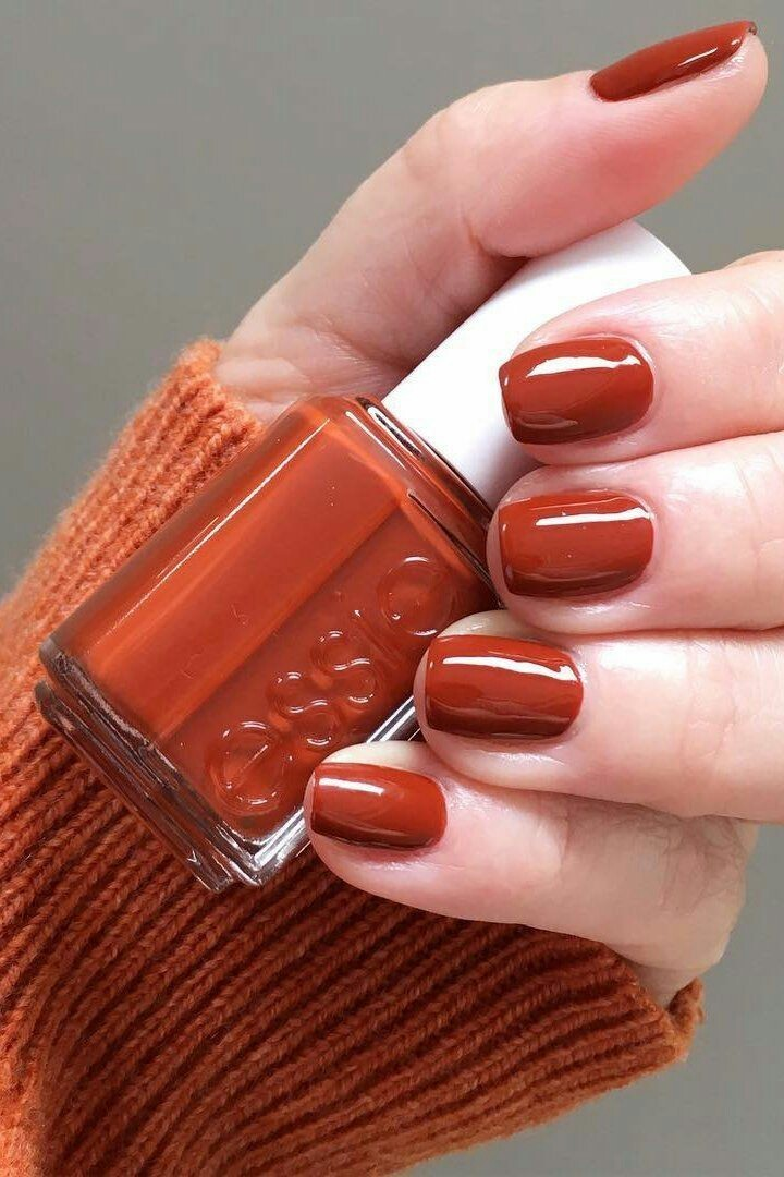nails, autumn, and orange image