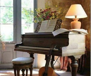 piano, guitar, and music image