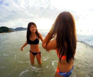 bikini, girl, and girls image