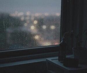 rain, light, and night image