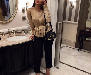 bag, black pants, and fashion image