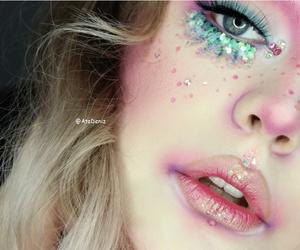 mermaid, glitter, and make up image