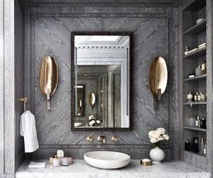 house, interior, and bathroom image
