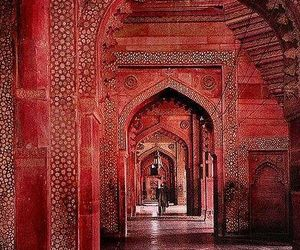 red, india, and architecture image