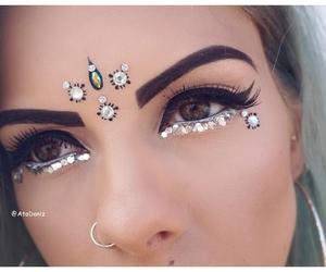 eyebrow, eyelash, and face image