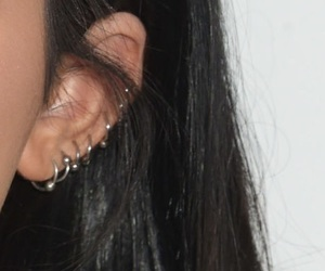 ear, earrings, and Piercings image