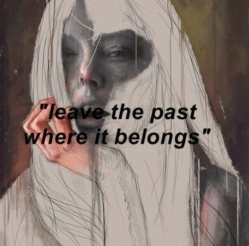 quotes, past, and art image