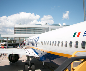 airport, italy, and vacation image