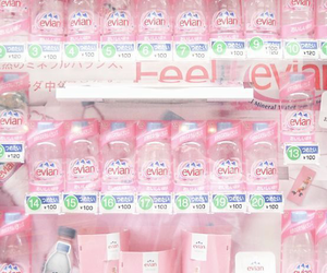 pink, pastel, and evian image