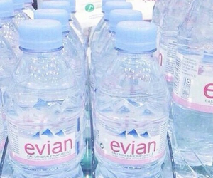 blue, water, and evian image