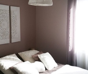 bedroom, creamy, and white image