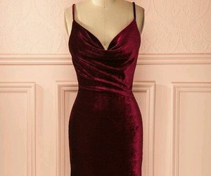 dress, elegance, and bordeaux image