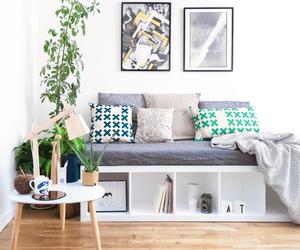 bench, diy, and pillow image